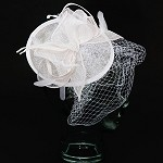 White Mary Fascinator - for women